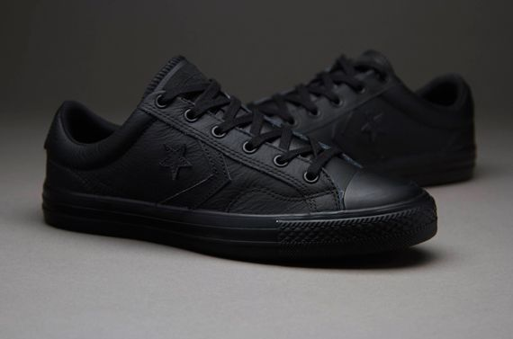 Black · Mens Shoes - Converse CONS Star Player Seasonal Leather ...
