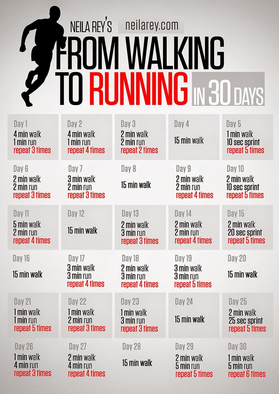 Walk to Run in 1 month