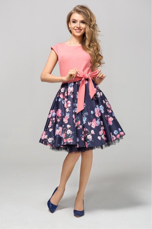 Sliczna Sukienka Rozkloszowana W Kwiaty Idealna Na Wesele A Beautiful Dress Flared With Flowers Perfect For A Wedding Sukienk Dresses Fashion Midi Skirt