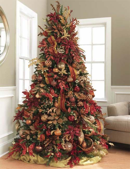 Christmas Tree Decorating Ideas Pictures Best Template  - Country Decorated Christmas Trees