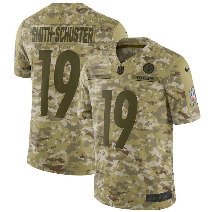 online store 85413 c4e4c Nike JuJu Smith-Schuster Pittsburgh Steelers Camo Salute to ...
