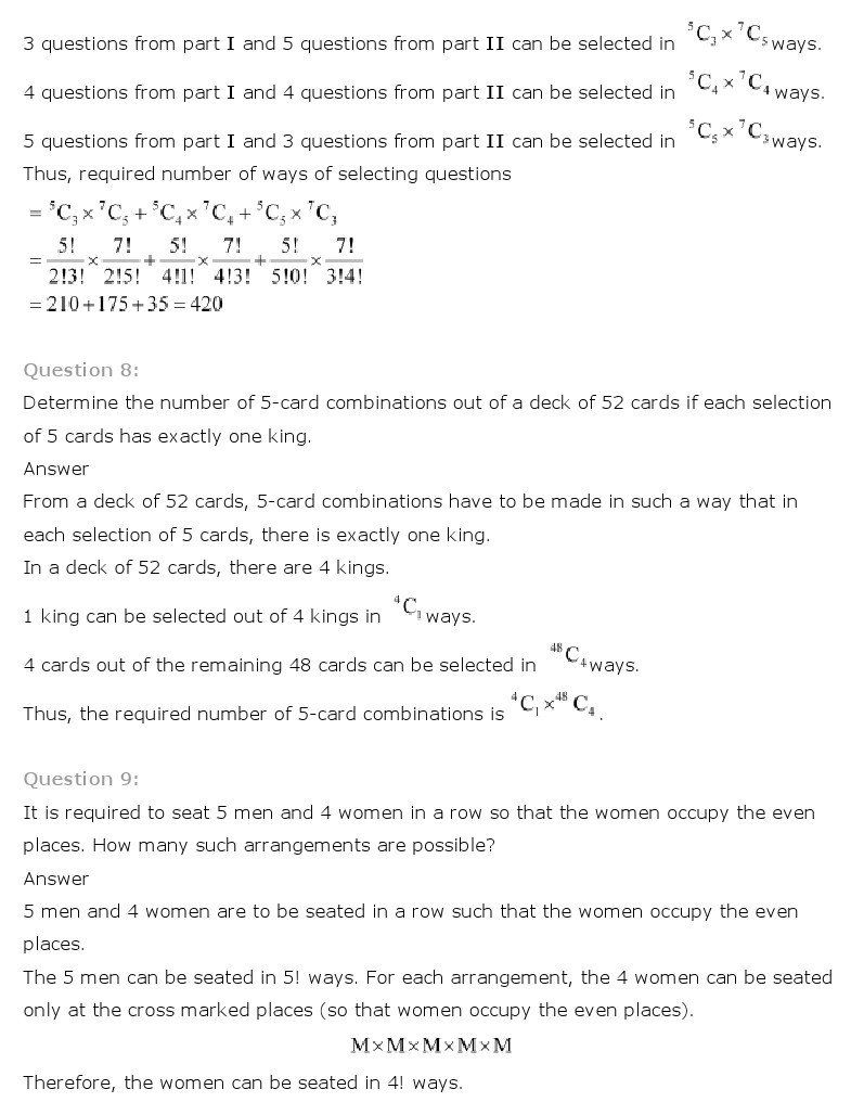 Permutations And Combinations Worksheet Answers Ncert Solutions For Class 11th Maths Chapter 7 Permutation In 2020 Permutations And Combinations Worksheets Answers