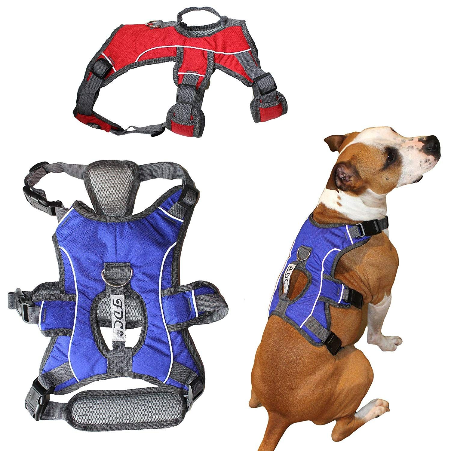Fdc Heavy Duty Durable No Pull Comfortable Walking Working Dog Harness Vest With Handle And Reflective Stripes Padded Dog Vest Harness Dog Harness Working Dogs