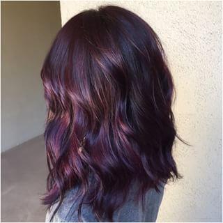 49++ Plum hair with highlights ideas