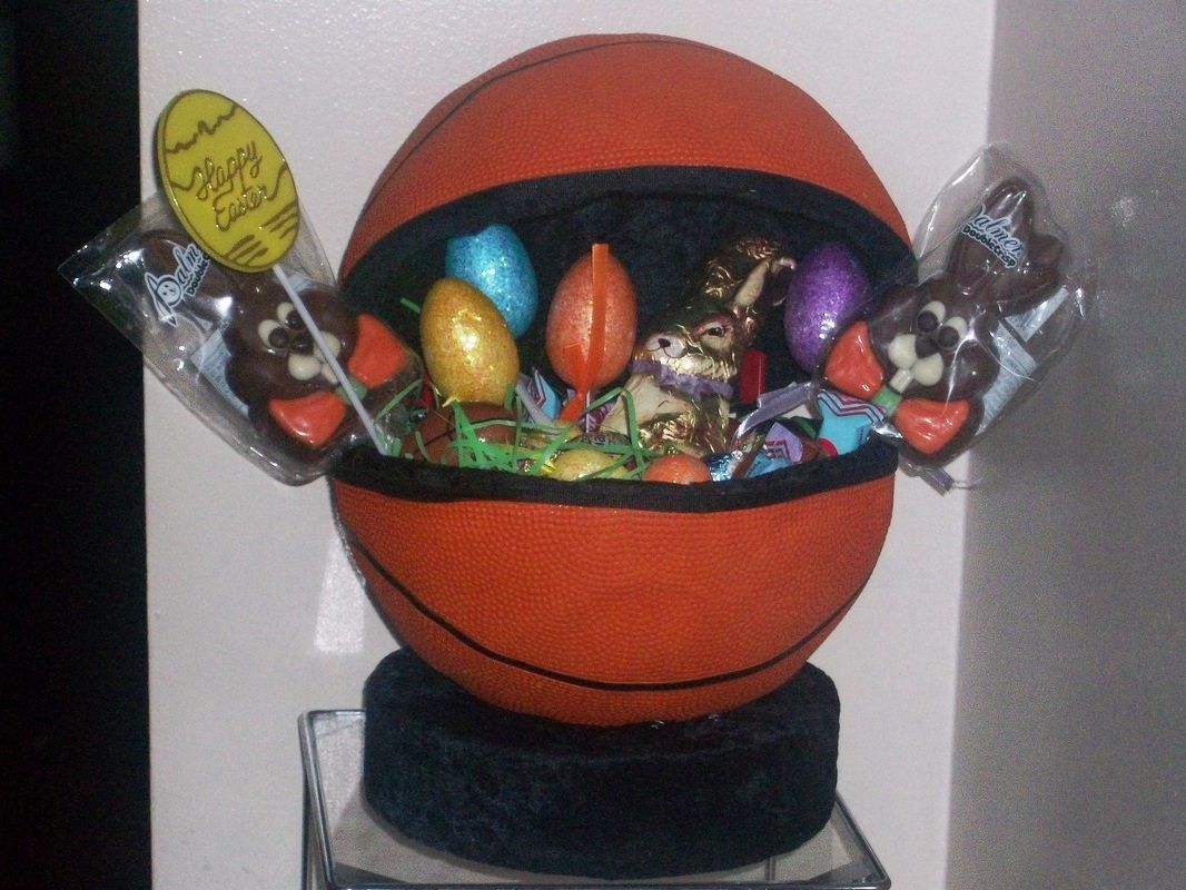 Unique handcrafted easter basketball from fanofugifts unique handcrafted easter basketball from fanofugifts negle Choice Image