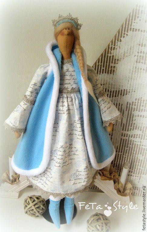 Купить Снегурка Кукла текстильная интерьерная Тильда - кукла, кукла текстильная, кукла интерьерная