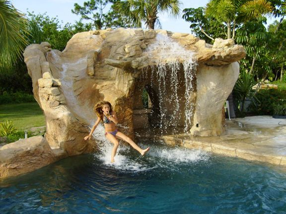 image result for home pool grotto