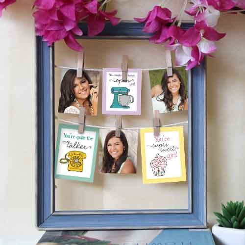 Personalized Frame with Hanging Pics | gifts | Pinterest | Florists ...