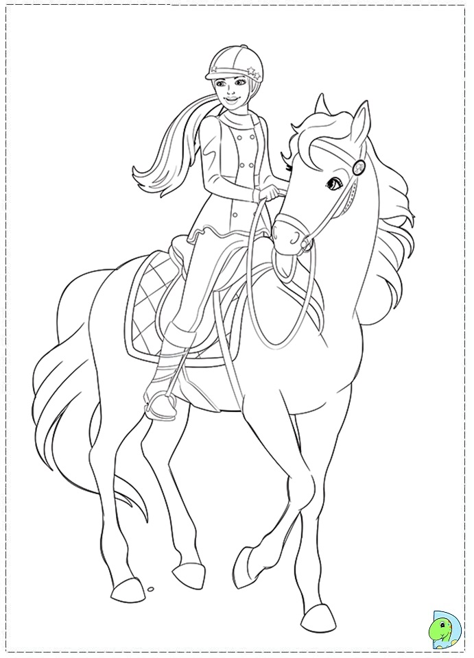 Pin By Stephanie Magnuson On Coloring Books Horse Coloring Pages Barbie Coloring Pages Barbie Coloring
