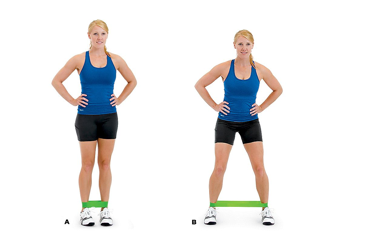 Lateral Band Walking HOW TO DO IT A. Loop a light ...