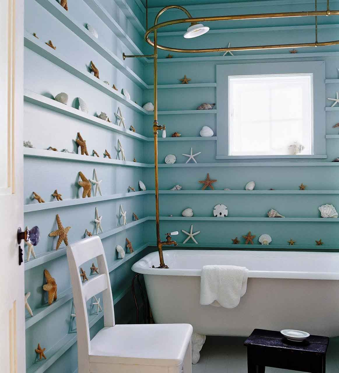 Wouldn\'t do seashells, but I like the idea of the tiny shelves all ...