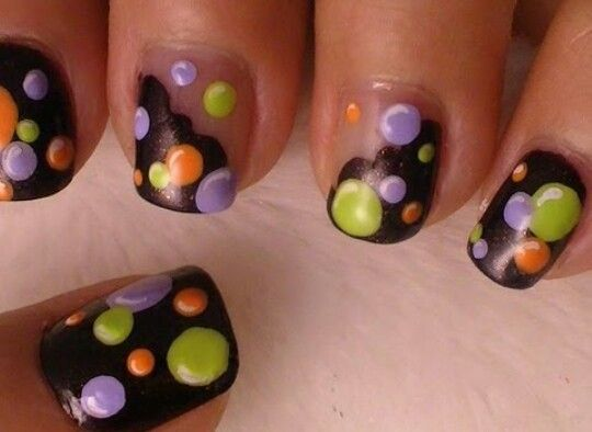 Green Nail Polish Black Decorations Cemetery Bats Spiders Webs Halloween Nail Ideas White Background In 2020 Green Nails Halloween Nails Halloween Nail Colors