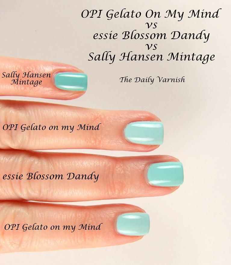 Sally Hansen Mintage, essie Blossom Dandy, OPI Gelato On My Mind ...