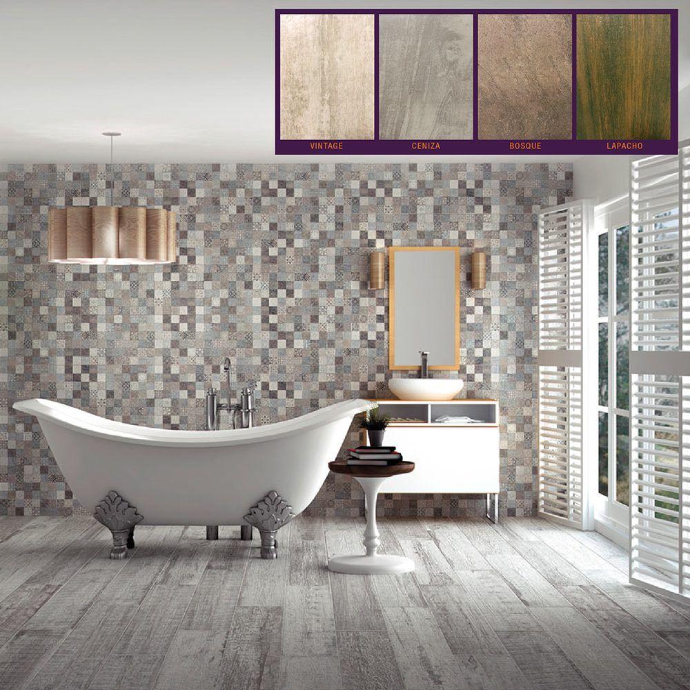 Porcelanato simil madera 15x60 nacional 1era marca for Porcelanato para banos