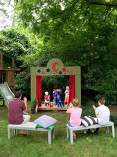 We now have a neighborhood theaterin our backyard This project was the brainchild of my eightyearold and my dad after a conversation that went s