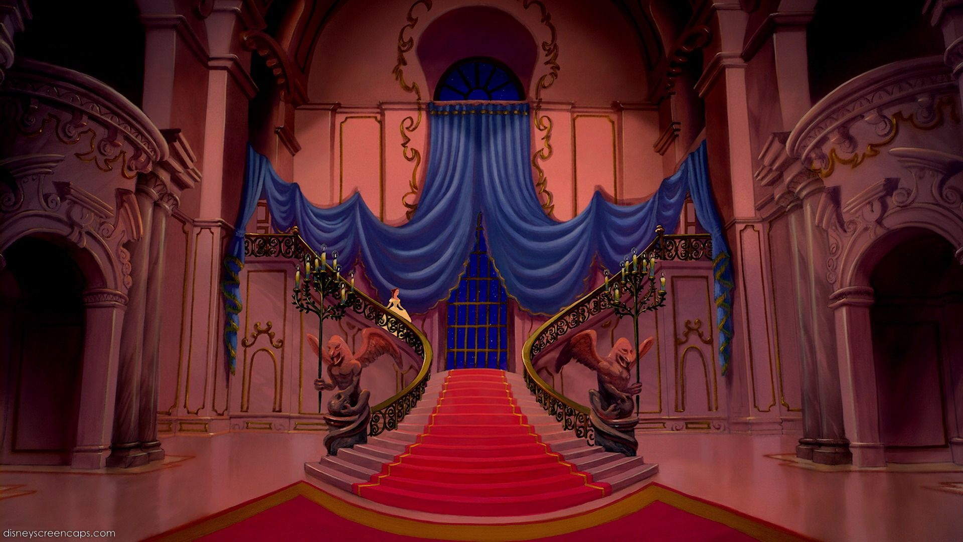 Empty Backdrop from Beauty and the Beast disney crossover