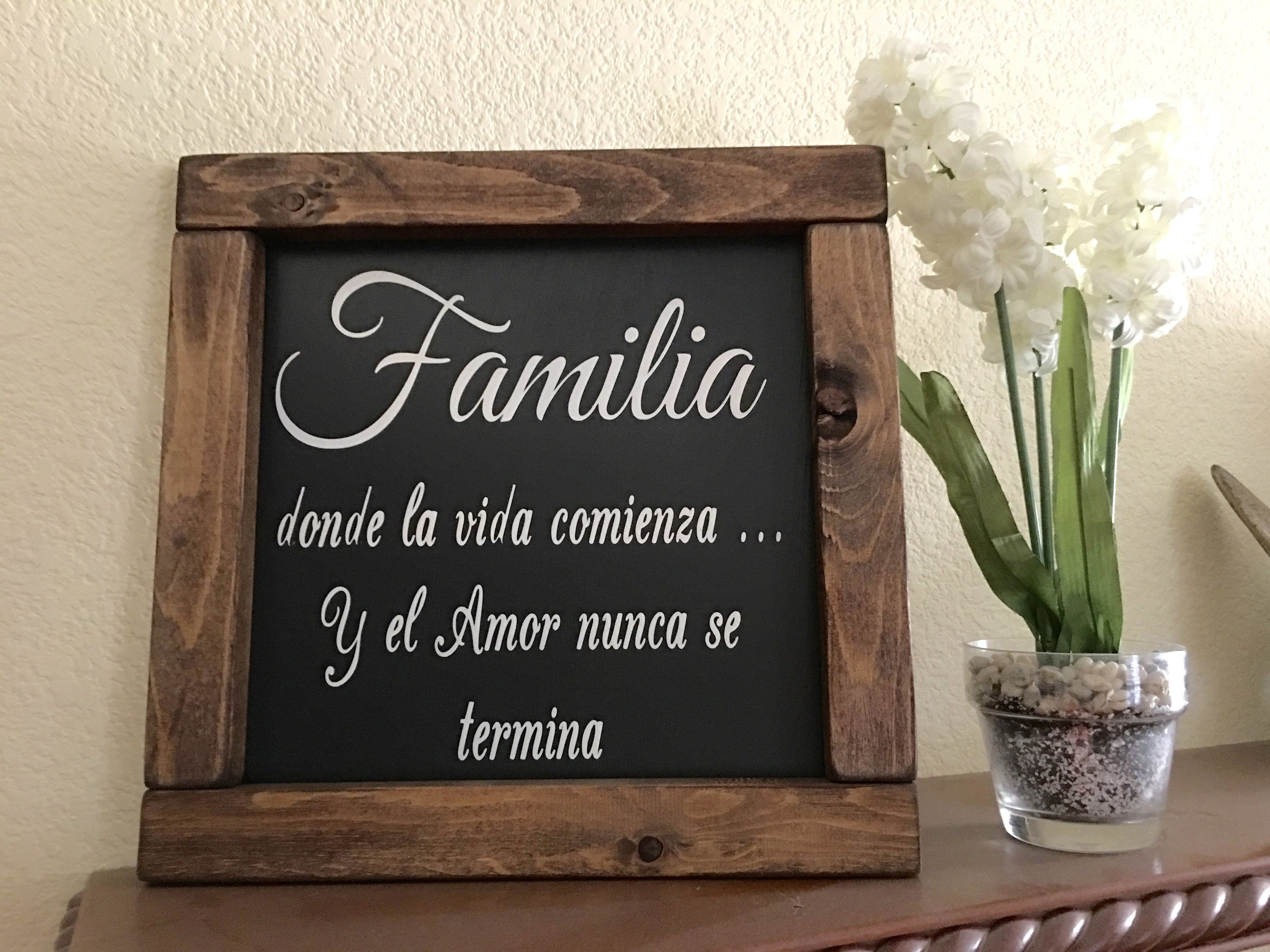 Farmhouse Signs Living Room Decor Wood Signs Spanish Home Decor Home Decor Spanish Decor Amor Familia Sign Familia Mexican Decor Spanish Home Decor Spanish Decor Wood Home Decor