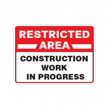 Restricted Area Construction Work In Progress 18454 Construction Work Work In Progress Progress