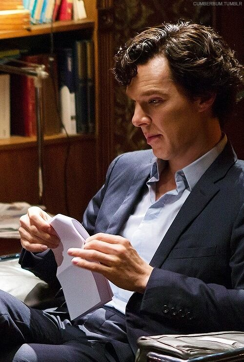 Benny reading over some lines :) ❤️