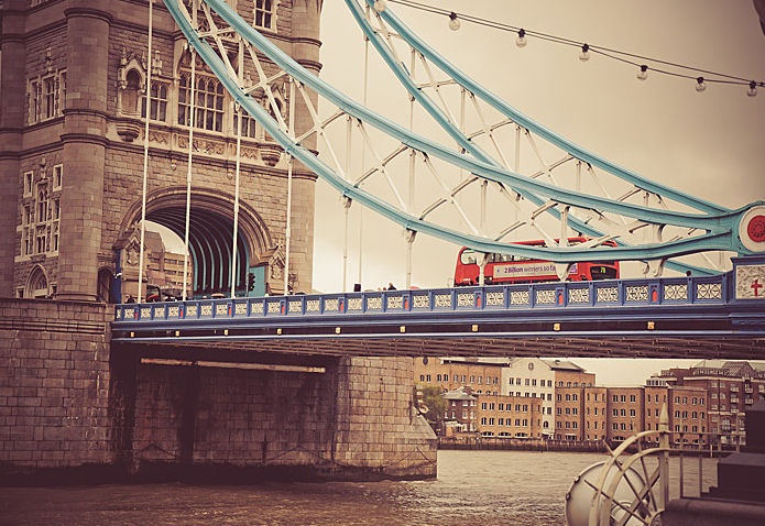 #London's Tower Bridge falls on T+L's list of spectacular bridges around the world. #England #UK #bridge