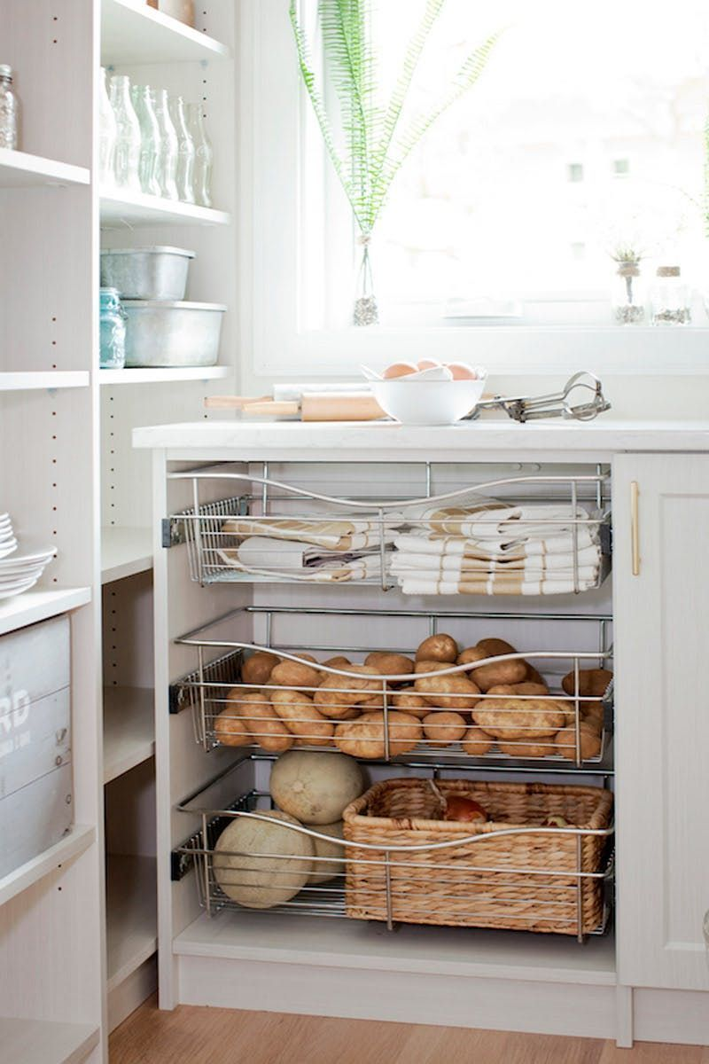 3 Ideas To Steal From This Perfectly Styled Pantry Turn Cabinets Into Drawers Cabinets Drawers Ideas Pantry P 2020 Mutfak Dekorasyonu Ev Icin Dekorasyon