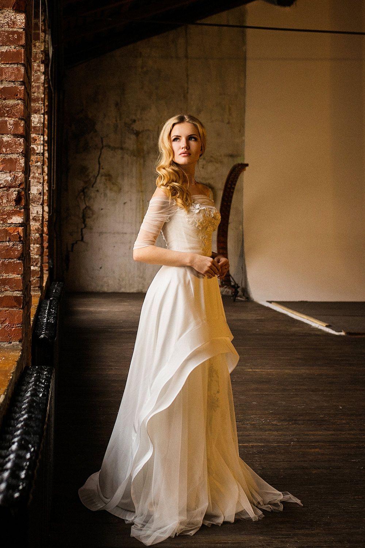 Tina wedding dress with sleeves rustic wedding dress wedding