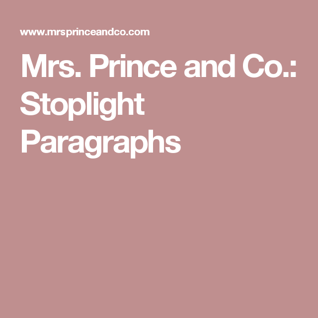 mrs prince and co stoplight