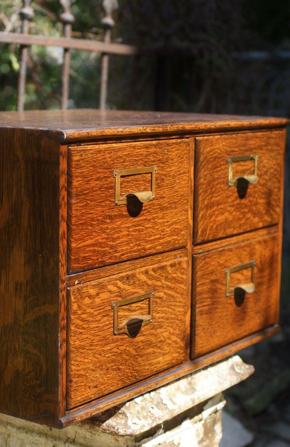 Wooden File Cabinet Vintage Macey 4 Drawer by ohiopicker on Etsy ...