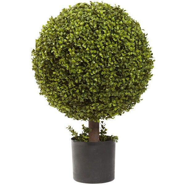Decorative Boxwood Balls Captivating Nearly Natural 27Inch Boxwood Ball Topiary Decorative Plant 720 Design Decoration