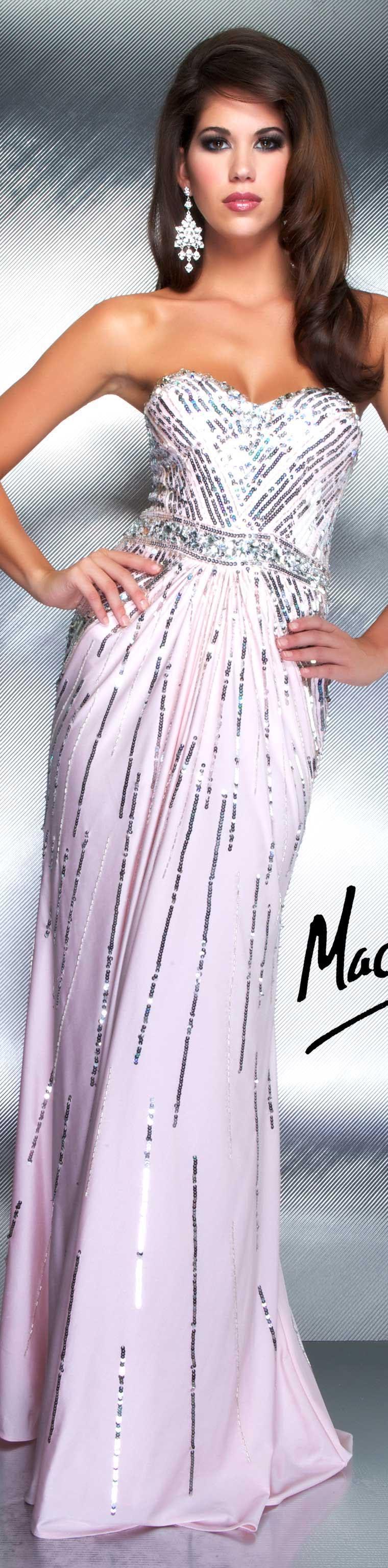 Mac Duggal - 4743D Beaded Bateau Ombre Sheath Dress
