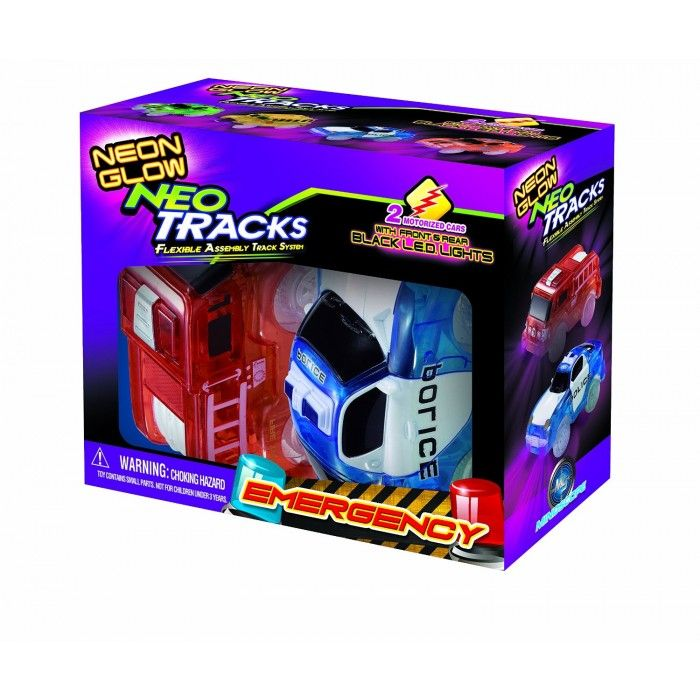 Pulse LED of Neon Glow in the Dark Track with Two Light-Up Vehicles Sports Car Series by Mindscope Mindscope Twister Tracks Trax 360 Loop 15 feet