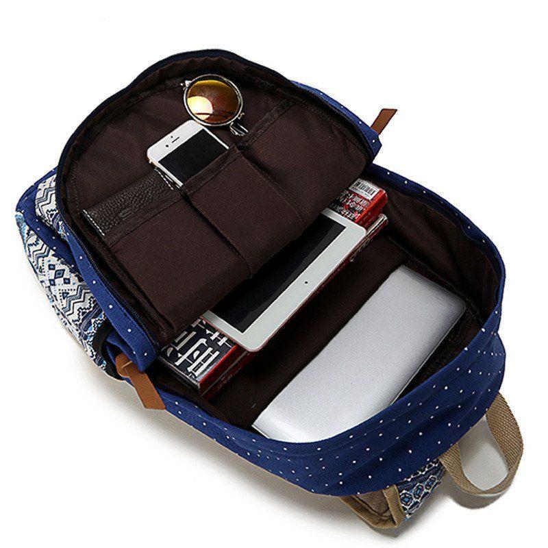 16791c0eff89 SUNBORLS Brand Korean Canvas Printing Backpack Women School Bags for Teenage  Girls Cute Rucksack Vintage Laptop Backpacks Female