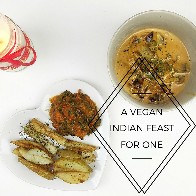 An Indian Inspired Vegan Feast For One - Powered by @ultimaterecipe