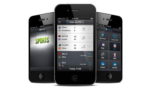 Xfinity TV Sports Mobile Application by Justin Gravante