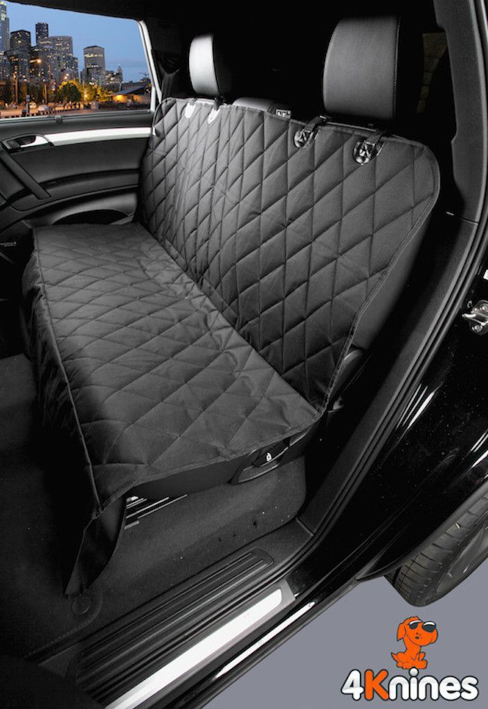 Black Rear Bench Seat Cover For Pets Dog Seat Covers