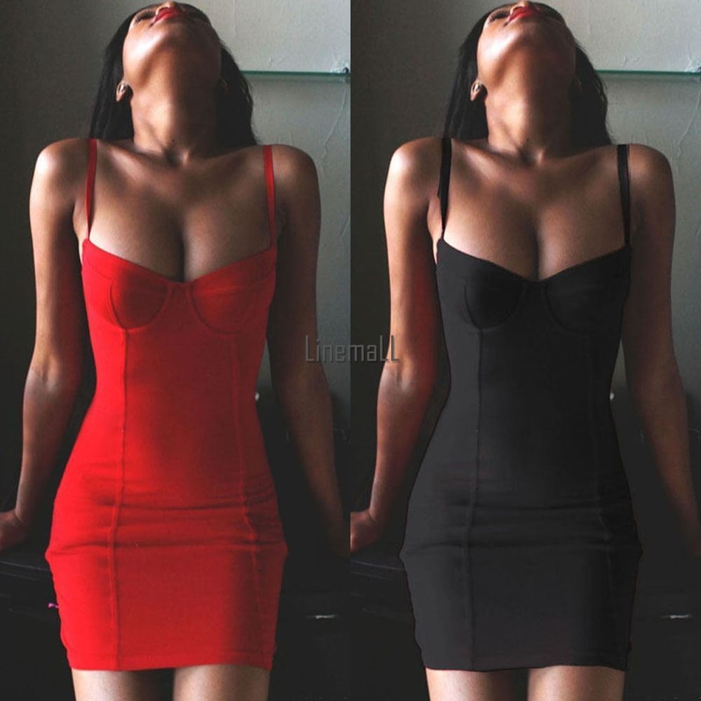 Sexy Women's Summer Bandage Bodycon Evening Party Cocktail Club Mini Dress LM #Unbrandedgeneric #StretchBodycon #CasualParty