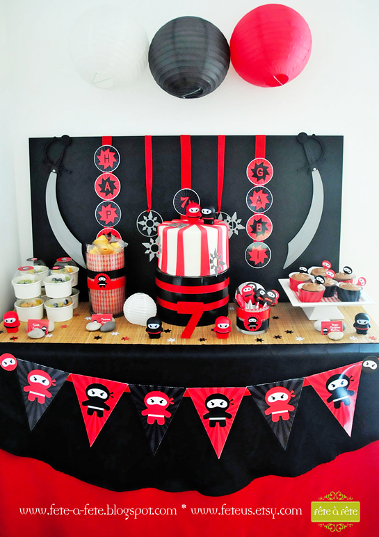 ninja-cake-&-sweets---Ninja-Party-by-Fete6 | Ninja Party