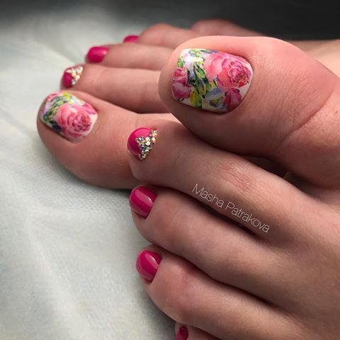 Источник pronailblg…  toenail art designs toe nail