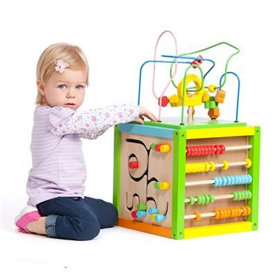 Image For 5 In 1 Wooden Activity Cube Toy From Kmart Zariah