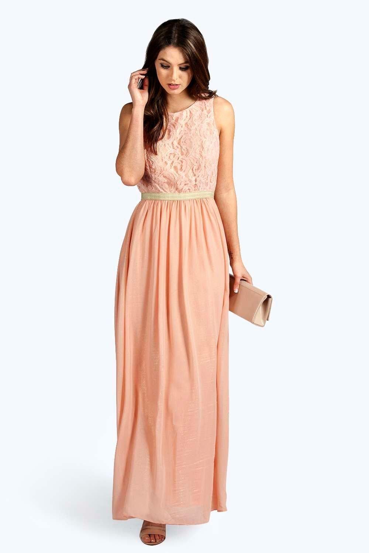 Spring Sale Blush pink maxi sheer chiffon dress, Blush bridesmaids ...