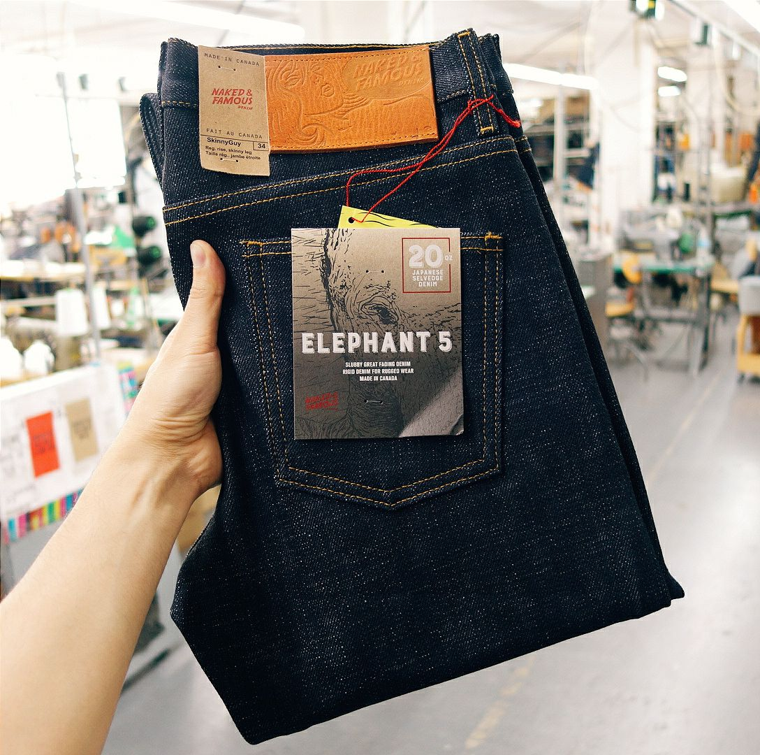 Elephant 5 Selvedge - Naked & Famous Denim   Rare & Raw Japanese Denim
