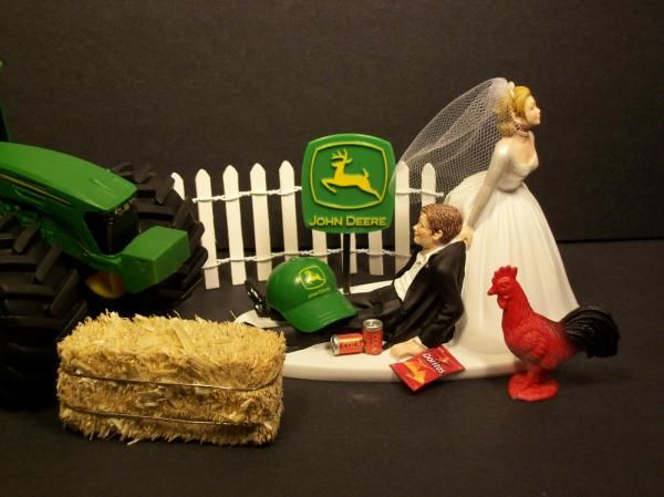 john deere tractor wedding cake toppers farming wedding cake topper cake toppers no farming 16602