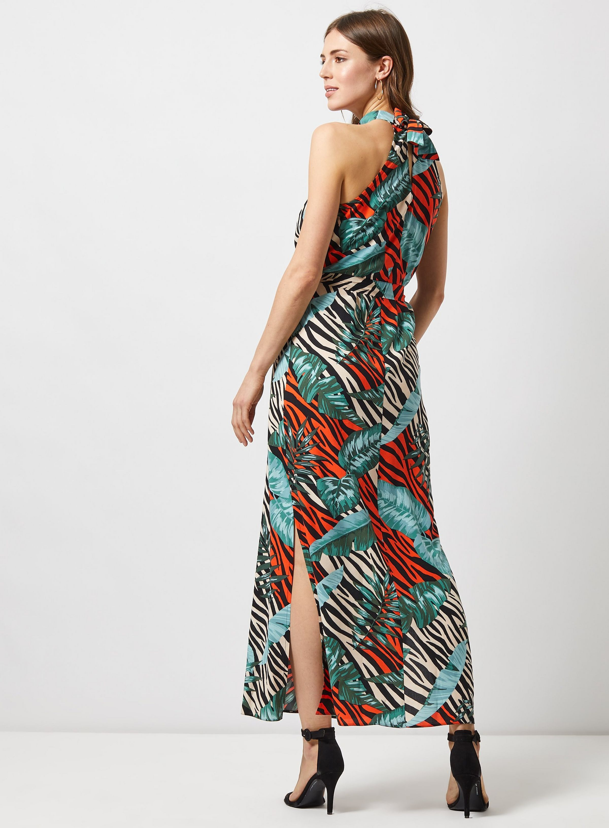 850978a8d0 Multi Colour Neon Jungle Print Maxi Dress in 2019 | JRC IN-STORE ...