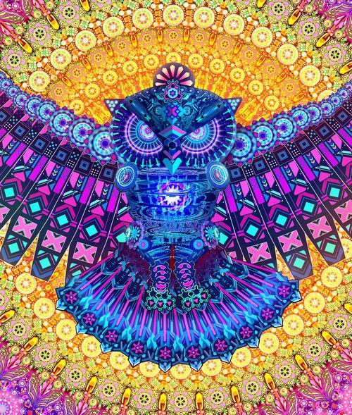 Mano Hamsa Ojo arte psicodélico UV de luz negra Tapiz Colgante De Pared Deco de telón de fondo