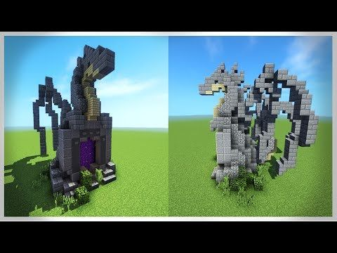 How to Build a DRAGON PORTAL - Minecraft Tutorial - YouTube