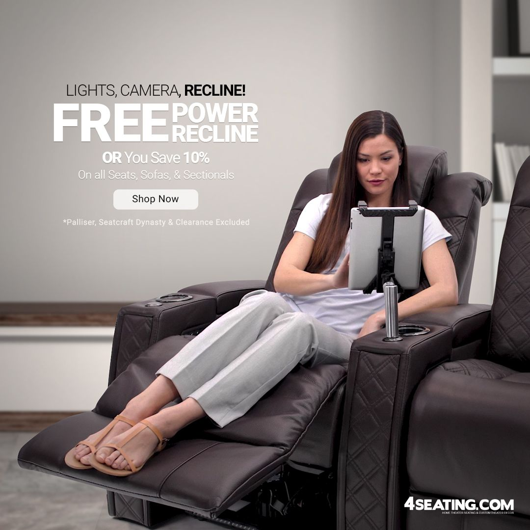 Lights Camera Recline Free Power Recline Or 10 Off 4seating Theaterseat Hometheaterseati In 2020 Home Theater Seating Home Theater Furniture Theater Seating