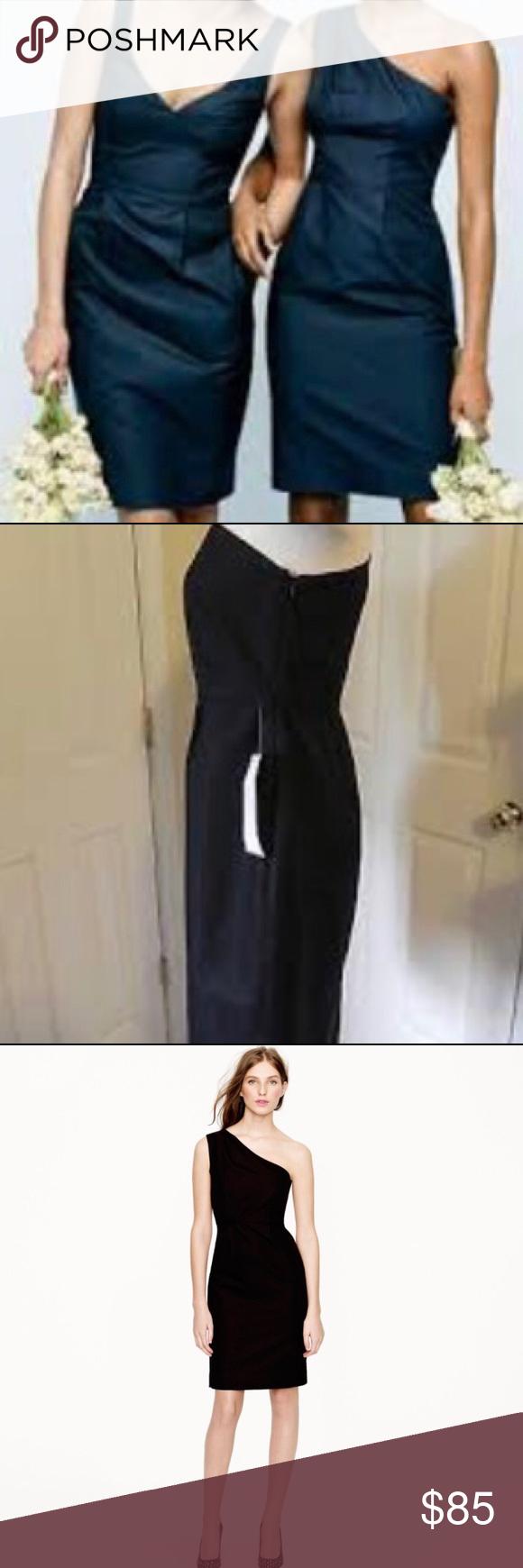 Black dress j crew - J Crew Misha One Shoulder Black Dress J Crew Misha Black One Shoulder Dress