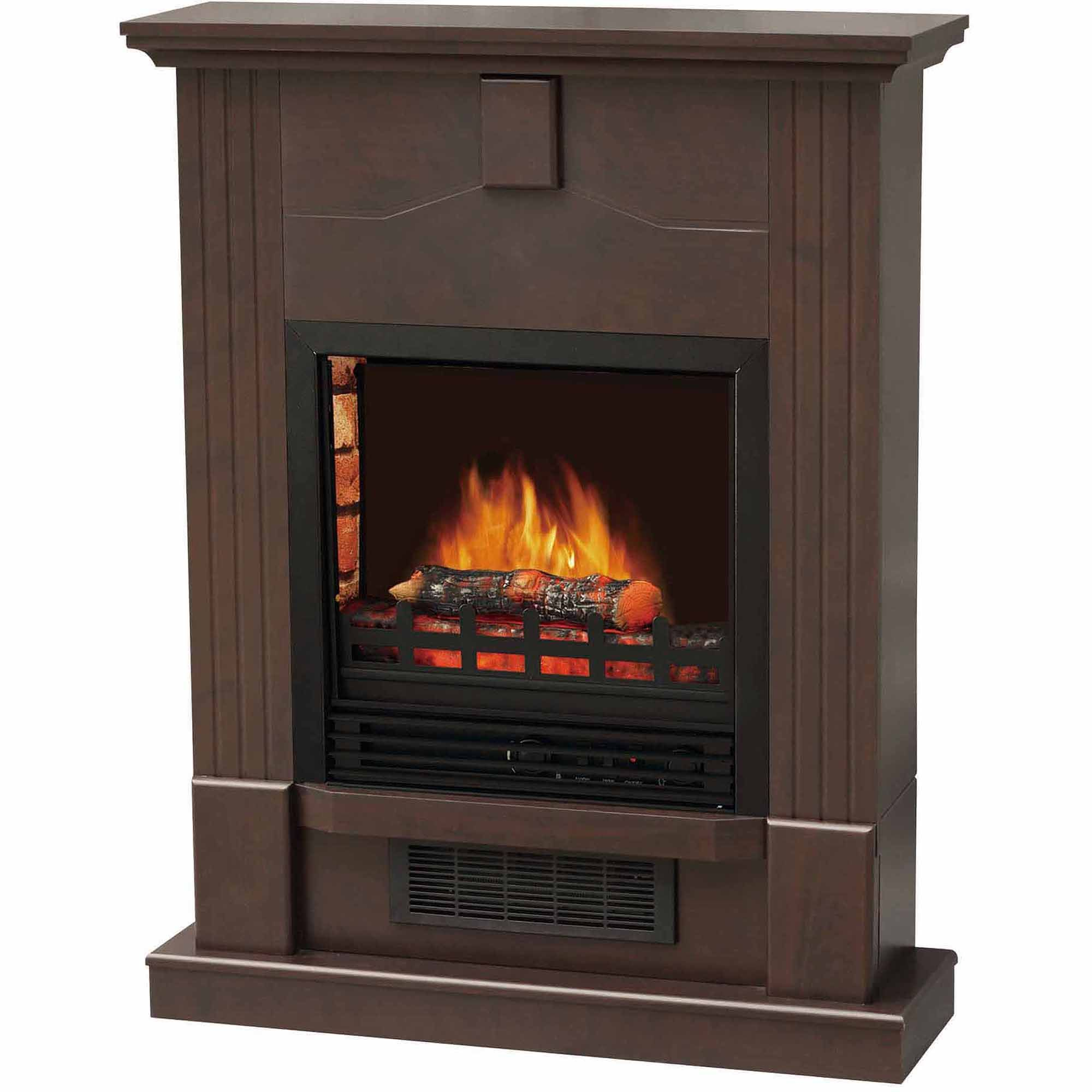 decoflame electric fireplace w 28 mantle dark chocolate use w or