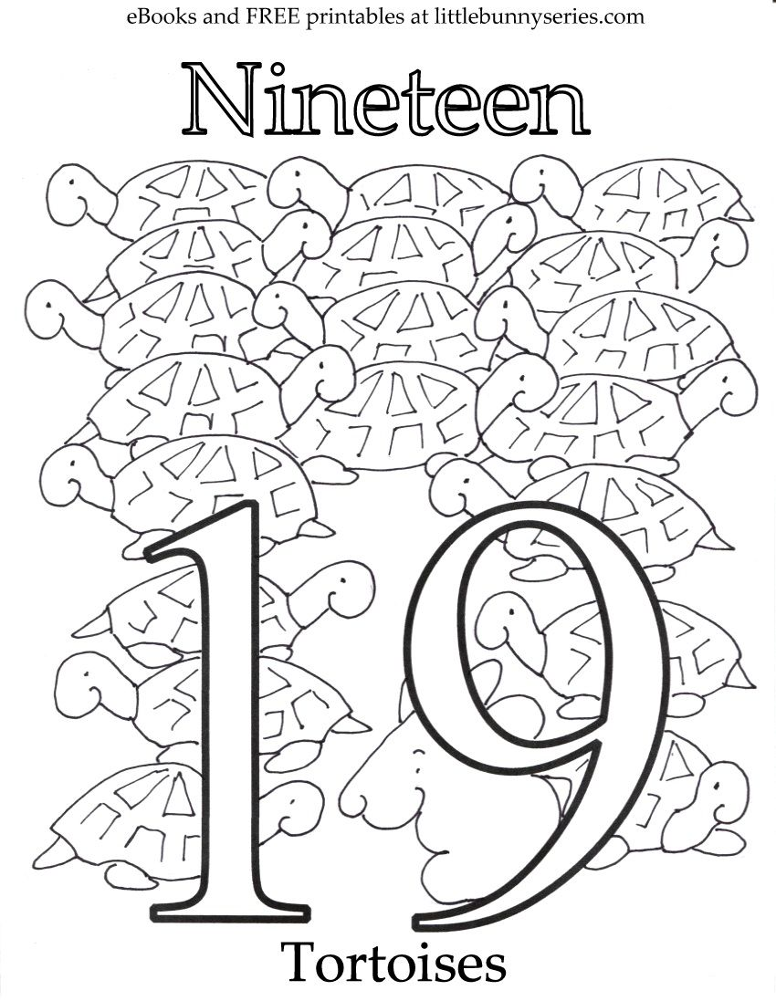 Number 19 Coloring Page Pdf Preschool Coloring Pages Coloring Pages Sunday School Coloring Pages