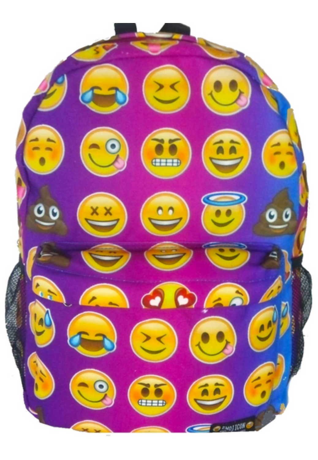 4de80a2f1d Top Trenz Purple Tie-Dye Emoji Backpack